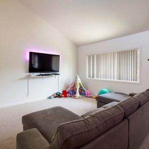 Model unit living room.