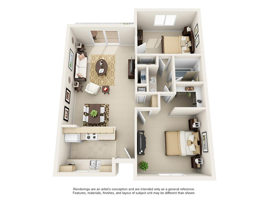 Our Floor Plans - Stonegate Village Apartments in West ...